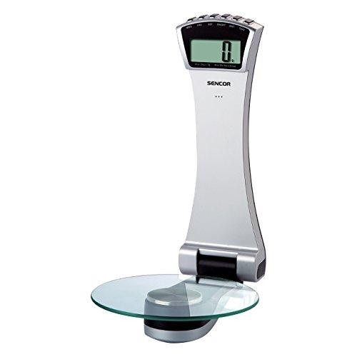 SENCOR SKS 5700 Digitale Wandküchenwaage, Platzsparend Küchenwaage, 3 kg Kapazität, extra großes LCD-Display, Empfindlichkeit von 1 g