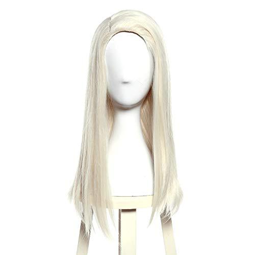 FEIFEImop Pelucas de pelo largo liso 100% resistente a altas temperaturas, color beige