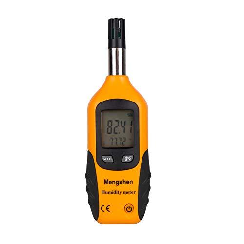 Mengshen Misuratore di temperatura e umidità - con punto di rugiada e temperatura della lampadina bagnata - Batteria inclusa, M86