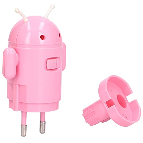 Adaptador USB, Adaptador Convertidor de Enchufe de la UE a USB Adaptador de Forma de Robot Universal Portátil Adaptador de Enchufe de Viaje Europeo Adaptador de Corriente Internacional UE 100-240V