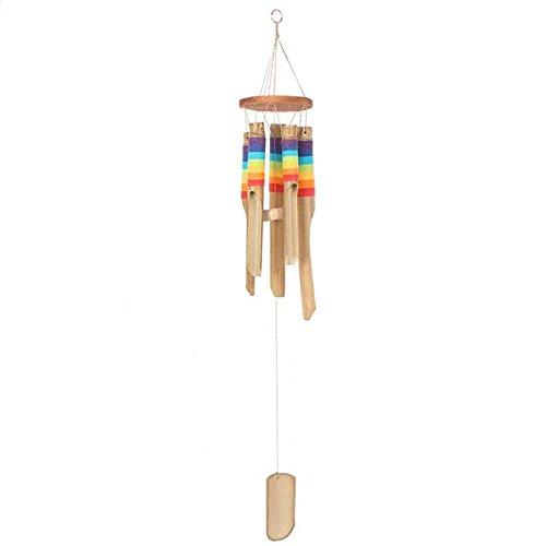 Multicolore Carillon en bambou avec filetage