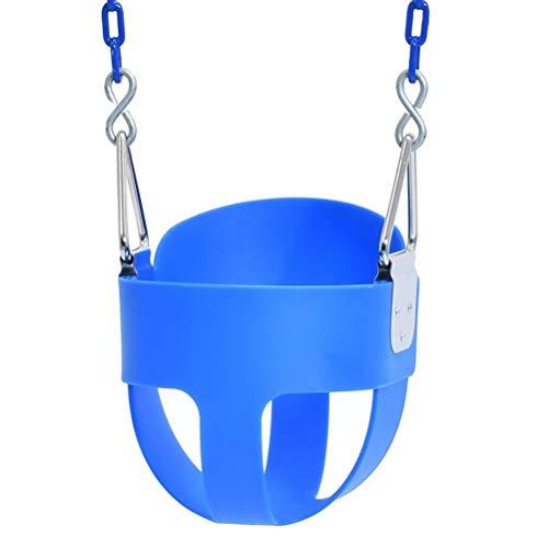 Miokycl Baby Swing,Kinder Swing Seat Swing Chair Full Eimer Kleinkind Kinder Swing Seat Garten Hängende Eimer komplett montiert für Indoor Outdoor Spielplatz Unterhaltung (blau)