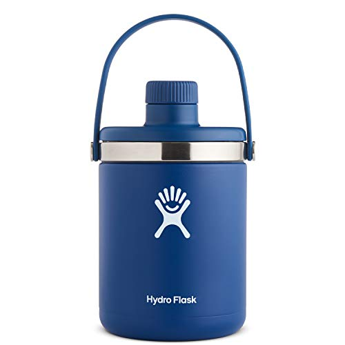 Hydro Flask Oasis Water Jug - Stainless Steel & Vacuum Insulated - Leak Proof Cap - 128 oz, Cobalt