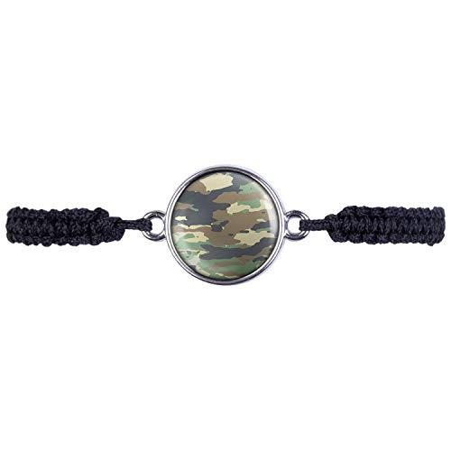 Mylery Armband mit Motiv Camouflage Tarnfarbe Nr. 1 Silber 16mm