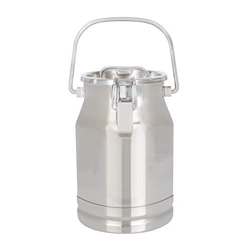 Ellofence Milchkanne 5 Liter – Edelstahl mit Deckel