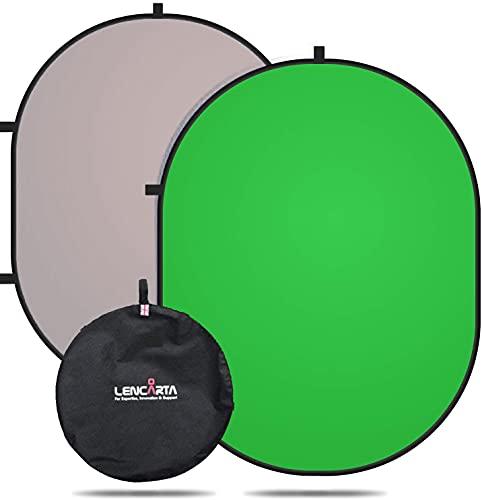 Fondo Chromakey Pantalla de YouTube verde / gris, muselina de algodón portátil...