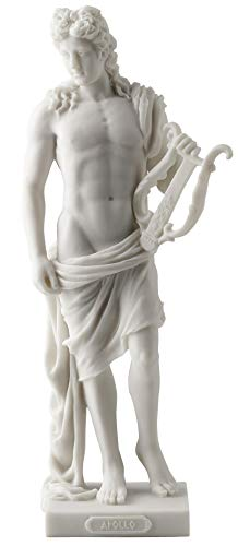 Apollo - Greek God of Light, Music and Poetry Statue White Finish