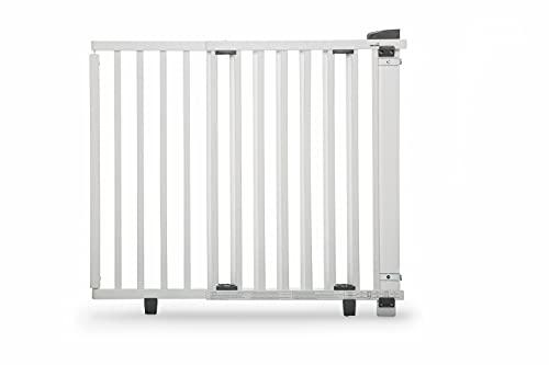 Barrière de sécurité pivotante bois blanc porte 93,5 - 133 cm Geuther