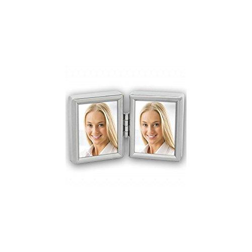 Zep 8735dl Collection Doppel-Bilderrahmen, für 2Fotos Metall versilbert 3,5x 4,5cm