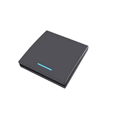 SHENYF Interruptor de luz táctil de Pared Inteligente 433MHz 110 220V Home Wall Panel Negro 1 pandilla