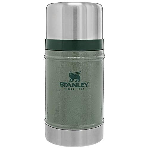 Stanley Classic Legendary Food Jar 0.7L / 24OZ Hammertone Green – Acier Inoxydable - Sans BPA - Garde au chaud pendant 15h - Couvercle qui sert de Tasse - Passe au lave-vaisselle - Garantie à Vie