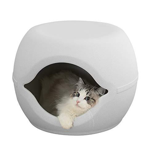 Rond Krukhuis Voor Huisdieren, Pp-hars Voor Katten- En Hondenhokken, Eenvoudig, Hittebestendig Kattenbakvulling Voor Grote Ruimtes
