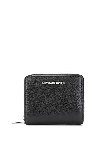 Luxury Fashion | Michael Kors Dames 34H9SJ6Z8L001 Zwart Leer Portemonnees | Lente-zomer 20