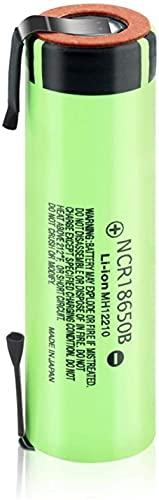 3.7v 3400mAh Batería Recargable 18650 NCR Li-Ion Baterías con 2 pestañas 1 Pieza