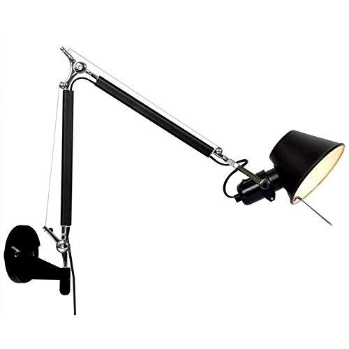 YLCJ wandlamp, lange arm, wandlamp, lichtpunt, slaapkamer, tienerkamer, keuken, 5 W