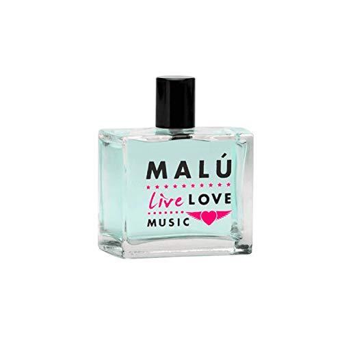 "Malú Fragancia Eau de Toilette""live Love Music"", 100 ml con vaporizador, sin caja, colonia mujer"
