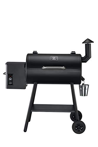 Z GRILLS ZPG-5502H 2020 Upgrade Wood Pellet Grill & Smoker, 8 in 1 BBQ Grill Auto Temperature Control, 553 sq in Black