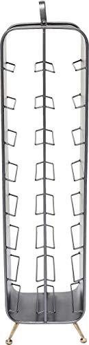 Kare Design Weinregal La Gomera 99cm, Weinregal im Industrial Style, Weinregal aus Metall Stahl, (H/B/T) 99x24x22cm