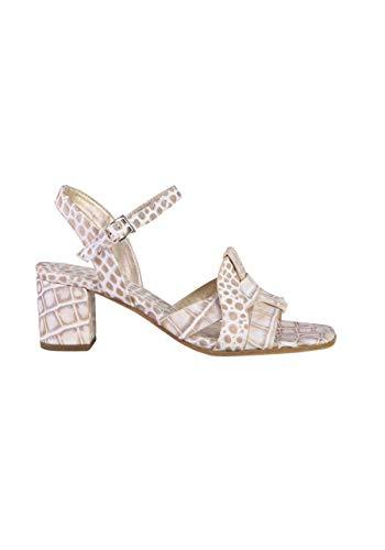 KENNEL&SCHMENGER Sandalette Missy Leder Muster beige/weiß Größe 37.5