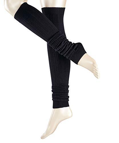 ESPRIT Damen Leg Warmers Rib - Schurwollmischung, 1 Paar, Blau (Dark Navy 6375), Größe: ONESIZE