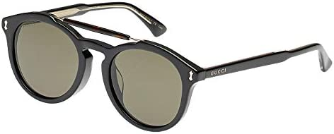 Gucci Oval Unisex Sunglasses - Gg0124Sa00152-52-21-150 mm, Grey Lens