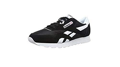 Reebok Men's Classic Nylon Sneaker, black/white, 10.5