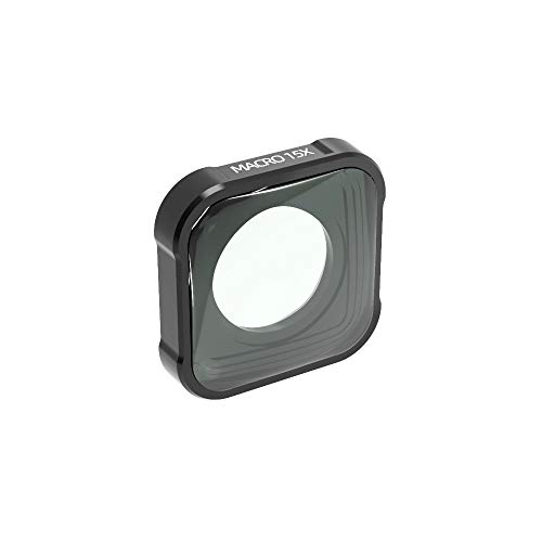 QKOO 15X Macro Lens for GoPro Hero 9 Black Sport Action Camera Close-Up Filter for HERO9 Black (Directly Replace The Standard Protective Lens On Your Camera)