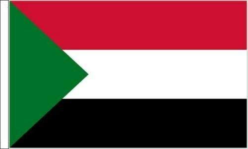 Flagmania6 x Sudan-Flaggen mit Ärmeln, geeignet für Boote, 45 cm x 30 cm.