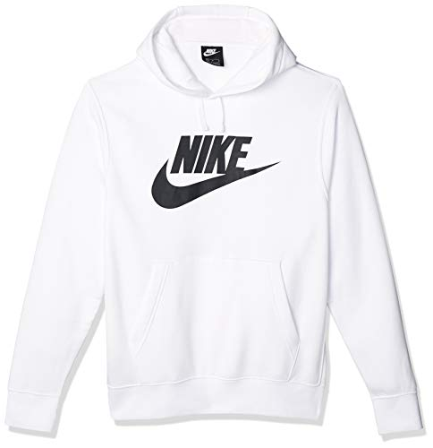 NIKE M NSW Club Fleece Graphic Sudadera con Capucha, Hombre, Blanco (White/White/Black),...