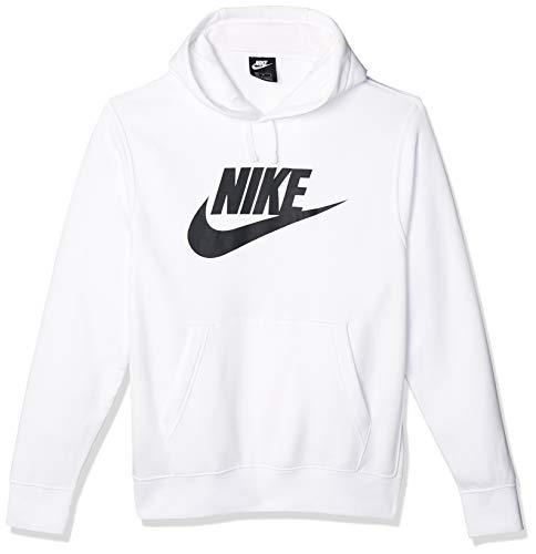 Nike Herren Sweatshirt M NSW Club Hoodie PO BB GX, White/White/(Black), S, BV2973
