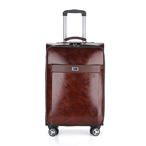 fosa1 Hand Luggage Trolley case PU Business Trolley Case, Universal Wheel Luggage, Male And Female Luggage Box Password, Suitcase (Size : 20inch)