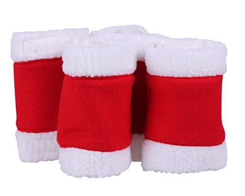 Arbo-Inox Bandagen Fleecebandagen Weihnachtsbandagen 4-Set rot