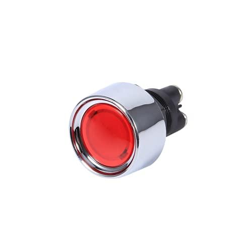 Botón de arranque del motor Interruptor de encendido, Botón de arranque del motor Durable para usar Interruptor de arranque del motor para automóvil para vehículos(rojo)