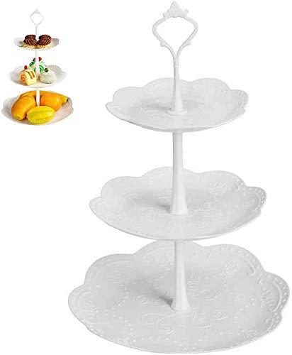 Tortenständer mit 3 Etagen, Kunststoff, mit Beschlägen und Obstteller,...