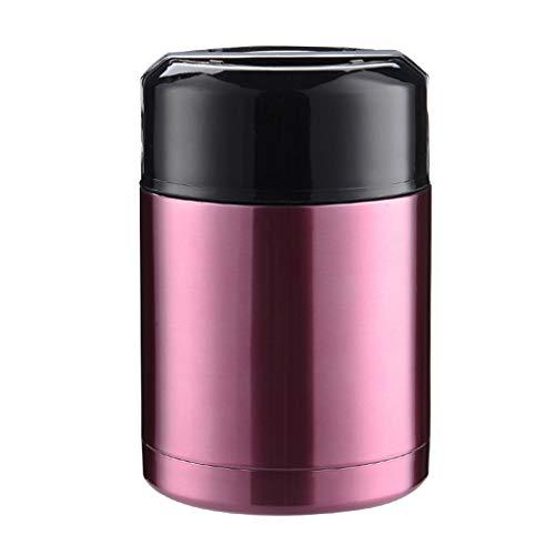 Noband Caja de almuerzo termo de gran capacidad portátil de acero inoxidable para sopa de alimentos calientes JSFGFSDH