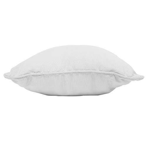 coton d'intérieur coussin 40x40cm coton panama blanc