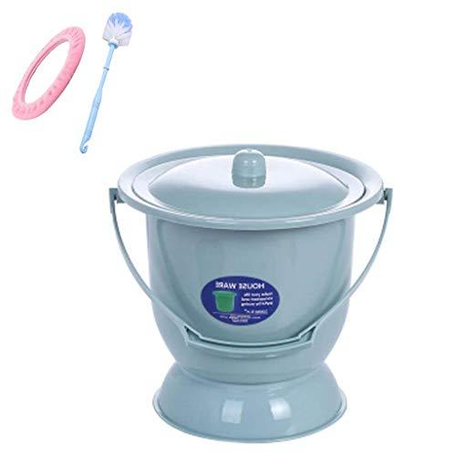 Npeiyi Tragbare Toiletten / Töpfchen Urinal Becken Kammer Topf Schwangere Frau Urineimer mit Deckel Senioren Toilettenstuhl und für Kunststoff-Bettpfanne weibliche Eimer