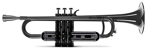 Classic Cantabile MardiBrass ABS Kunststoff Trompete - Perinet-Ventile - 510g leicht - Bohrung: 11,6 mm - inkl. Mundstück und Leichtkoffer - schwarz