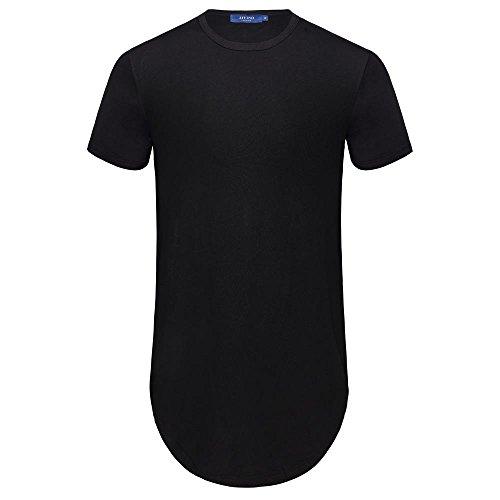 AIYINO - Camiseta de manga corta con cuello redondo para hombre con cremallera