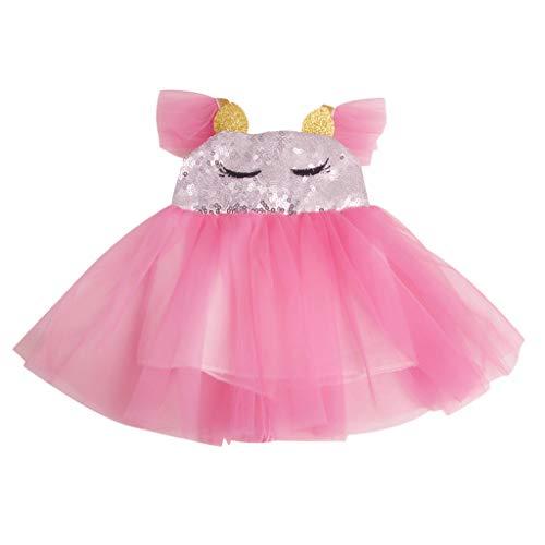 lahomia Vestido de boneca princesa vestido de verão para acessórios de roupas de bonecas de 45,7 cm - Rosa