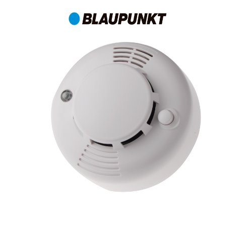 Blaupunkt Funk-Rauchmelder SD-S1 I Zubehör für Blaupunkt Alarmanlagen I Rauchwarnmelder,...
