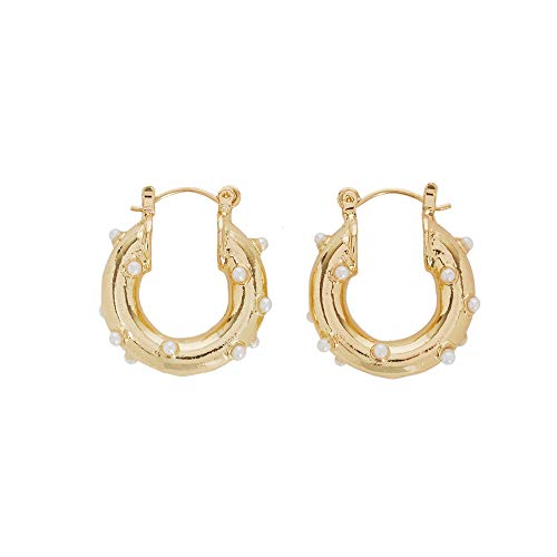 Parfois - Pendientes De Aro Cortos Perlas - Mujeres - Tallas Única - Dorado
