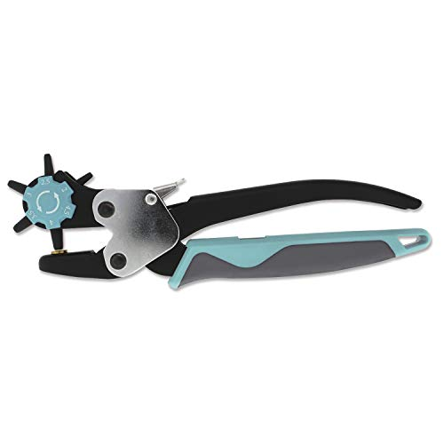 The Beadsmith Rotating Ergonomic Leather Hole Punch, Six Hole-Size Options, Leather Crafts and Jewelry-Making Supplies