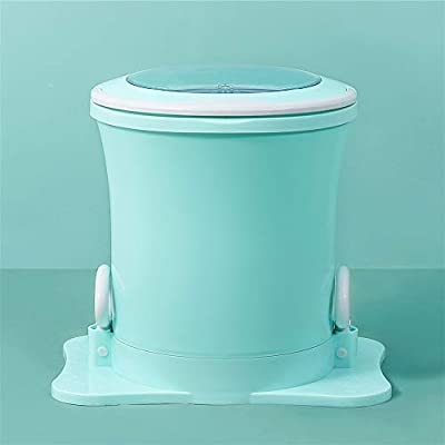 Mini clothes Spin Dryer, SEAAN- Portable Mini Manual Clothes Dryer, High-Speed Centrifugal Dryer,Laundry Drain Spin Dryer Machine For Apartments/home/camping (Green)