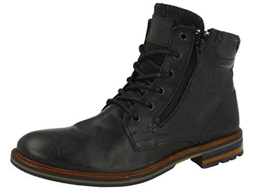 BULLBOXER Herren Stiefel, Männer Schnürstiefel,Boots,Chukka Boots,Schnürung, Boots Chukka schnürung Freizeit,schwarz,44 EU / 9.5 UK