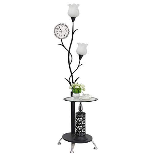 Lámparas de pie Nordic Lámpara de la Sala de Estar Dormitorio lámpara de cabecera Creativo Sofá Mesa de café Led lámpara de pie con el Reloj la luz del Piso lámparas de pie
