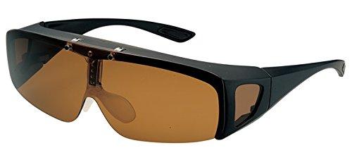 品 偏光サングラス SSC-9 (COLOR:B ブラウン) オーバーグラス 跳ね上げ式 眼鏡の上から着用可能 偏光レンズ スポーツサングラス オーバーサングラス 偏光 TR ブルーライトカット 跳ね上げ眼鏡 跳ね上げメガネ