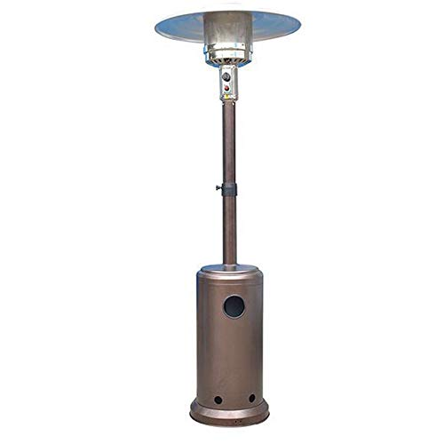 ZFHNY Outdoor Propane Heater Patio Tall Standing Gas Heaters Adjustable Height 40000 BTU for Balcony Courtyard Ceiling,Passed CE,CSA Certification(Bronze)