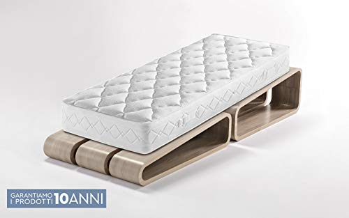 Dafne Italian Design Orthopädische Einzelmatratze mit Doppelfederkern, 80 x 190 x 20 cm