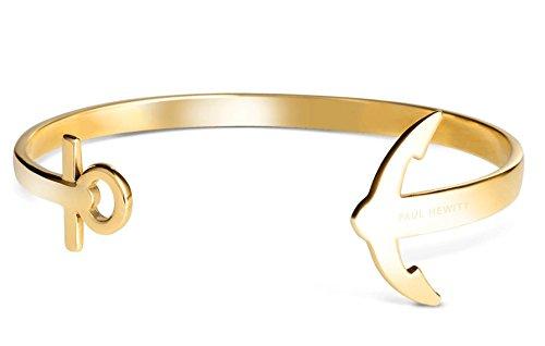 PAUL HEWITT Armreif Gold Damen ANCUFF - Damen Armreif offen, Armreifen Gold im Anker-Style